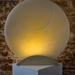 'Circle Of Light' sculpture carved in alabaster