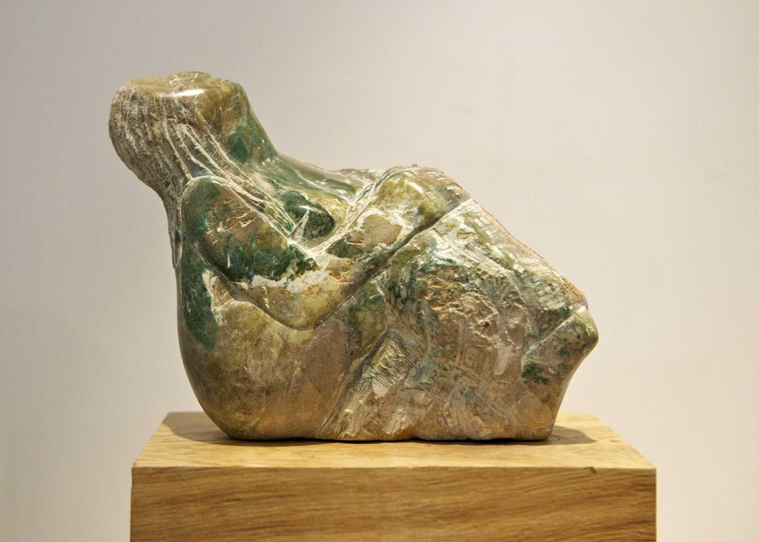'Letting The Light In' sculpture carved in opal stone