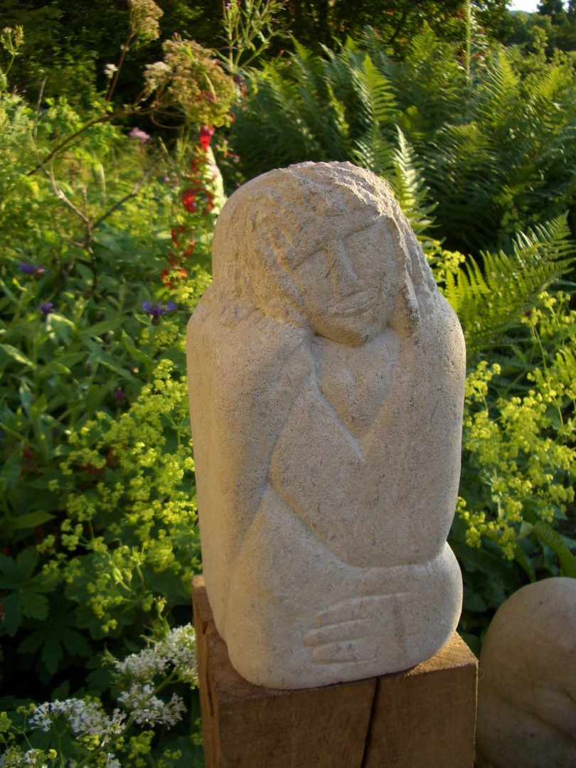 'Friends' stone carving in ancaster limestone