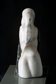 'Shivakthi'  stone sculpture in alabaster. Derbyshire