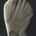 'Enlightened head' sculpture carved in alabaster