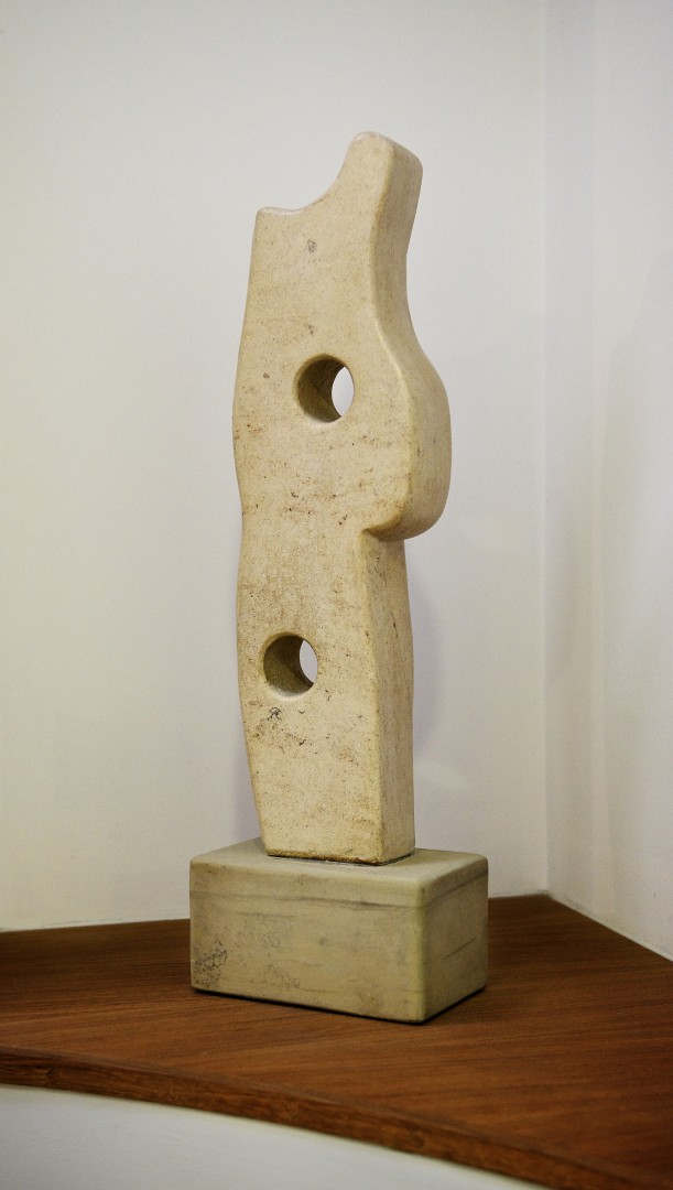 'Spaciousness' sculpture carved in ancaster limestone