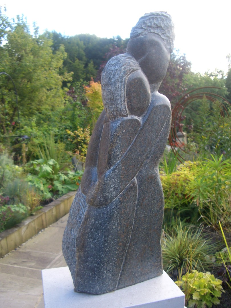 'Immersed' sculpture carved in polyphant soapstone